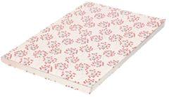 Bellatio Decorations Kaftpapier bloemen met hartjes print 200 x 70 cm rol - Boeken kaften - Kaft papier / schoolspullen