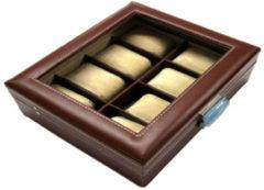 Benson Leder Horlogebox A4 Bruin