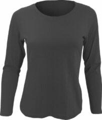SOLS Dames/dames Majestic T-Shirt met lange mouwen (Donkergrijs)
