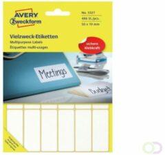 Avery Zweckform 3327 universele etiketten ft 50 x 19 mm (b x h), 486 etiketten, wit