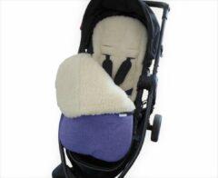 Blauwe By Vicky - Voetenzak winter - 100% schapenwol en waterdicht - ideaal voor kinderwagen of buggy - kinderdeken - babydeken - jeans blue
