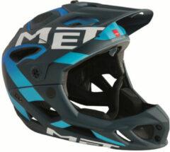 MET - Parachute - Fietshelm maat 54-58 cm - M zwart/blauw/grijs