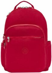 Rode Kipling Seoul Rugzak red rouge backpack