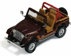 Bordeauxrode Merkloos / Sans marque Jeep CJ-7 1995 Bordeaux Rood 1-43 Ixo Models