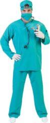 Blauwe Funny Fashion Dokter & Tandarts Kostuum | Trauma Chirurg Academisch Ziekenhuis Kostuum | Maat 60-62 | Carnaval kostuum | Verkleedkleding