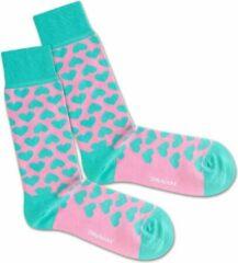 Roze DillySocks Dilly socks Crazy in Love Sock 41-46