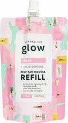 Australian Glow Self Tanning Mousse - Navulverpakking Zelfbruiner Schuim - Dark - 200ml