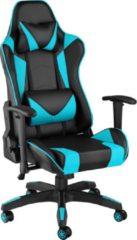 Tectake - Bureaustoel Twink zwart / azuurblauw - 403206