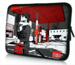 Rode Sleevy 17.3 laptophoes London love - laptop sleeve - laptopcover - Collectie 250+ designs