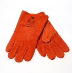 Rehamij Lashandschoen oranje bruin maat XL(10) (Prijs per paar)
