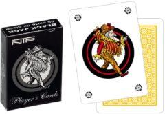 Dal Negro speelkaarten Black Jack 6,5 x 9,1 cm karton wit/geel