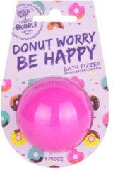 Bruisbal | Treets Bubble | Donut Worry Be Happy | Leuk om cadeau te geven! | Op de achterzijde ruimte voor een persoonlijke note