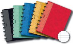 Adoc Classic A5 Ring Gebonden Schrift Kleurenassortiment Kartonnen kaft Gelinieerd 72 vellen