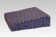 Aufstehhilfe Wolle Noppen 40x40x10/6 cm Linke Licardo blau