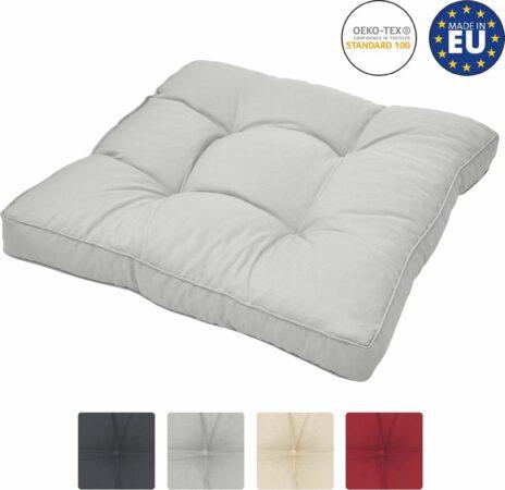Afbeelding van Beautissu loungekussen XLuna – zitkussen licht grijs 70x70 cm kussen in matraskussen kwaliteit