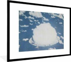 PosterMonkey Foto in lijst - Atoomexplosie bij bikini fotolijst zwart met witte passe partout 60x80 80x60 cm - Poster in lijst (Wanddecoratie woonkamer / slaapkamer)
