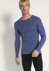 Hessnatur Herren Langarm-Shirt PureWOOL aus Bio-Merinowolle – blau – Größe 5