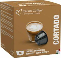 Italian Coffee - Macchiato/Cortado Koffie - 16x stuks - Dolce Gusto compatibel