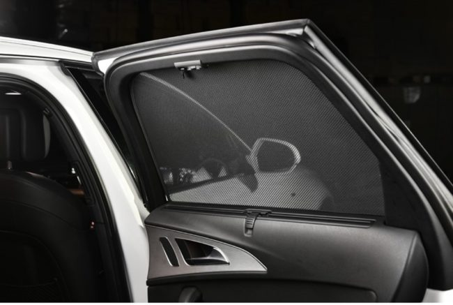Afbeelding van Zwarte Car Shades Carshades Jaguar XF Sedan 2008-2015 (tbv elektrische zonneschermen) autozonwering