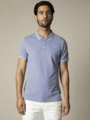 Lichtblauwe Cavallaro Napoli - Heren Polo - Garmino - Medium Blauw - Maat S