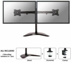 NewStar NM-D335DBLACK Monitor-tafelbeugel 2-voudig 25,4 cm (10) - 68,6 cm (27) Kantelbaar, Zwenkbaar