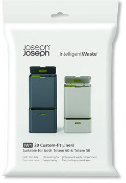 Afbeelding van Joseph Joseph Intelligent Waste Afvalzakken - geschikt voor 48, 58 en 60 l - 20 stuks - Wit