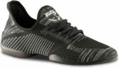 Danssneakers Heren Anna Kern Suny 4010 Pureflex - Splitzool - Sneaker Salsa, Stijldansen - Zwart/Grijs - Maat 43,5