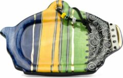 Theezakjes schoteltje - Model: Lichtgroen-Geel-Blauw | Handgemaakt in Zuid Afrika - hoogwaardig keramiek - speciaal gemaakt door Letsopa Ceramics voor Nwabisa African Art