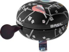 Grijze Basil Wanderlust Big Bell Fietsbel - Charcoal Zwart