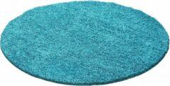 Himalaya Dream Rond Shaggy vloerkleed Turquoise Hoogpolig- 80 CM ROND
