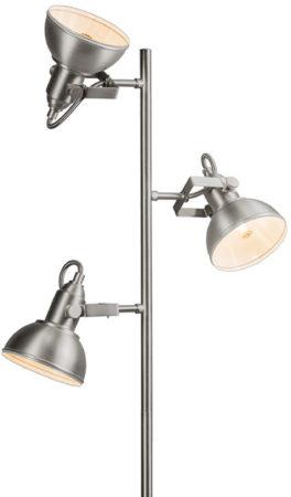 Afbeelding van Grijze Reality Leuchten Trio Lighting Tommy 3 - Vloerlamp - 3 lichts - L 400 mm - staal
