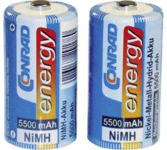 Oplaadbare C batterij (baby) Conrad energy HR14 NiMH 1.2 V 5500 mAh 2 stuk(s)