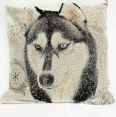 Creme witte Emme Kussenhoes Husky - Hond - Honden - Gobelin