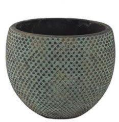 Blauwe Ter Steege Pot fay blue gold bloempot binnen 24 cm