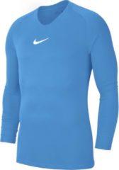 Lichtblauwe Nike Dry Park First Layer Longsleeve Shirt Thermoshirt - Maat 140 - Unisex - licht blauw