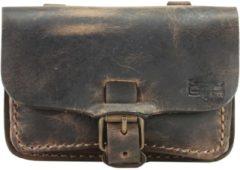 Gürteltasche Leder 15,5 cm Mika Lederwaren braun