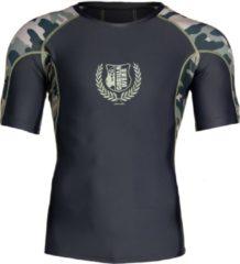 Donkergroene Gorilla Wear Cypress Rashguard Sportshirt Heren - Legergroen Camo - S