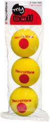 Gele Tecnifibre My Ball - Stage 3 - Foam bal - Tennisbal - 3 stuks