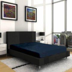 Nightsrest Vp Dubbel Jersey Matras Hoeslaken - Donkerblauw Maat: 140x200/220 + 40cm