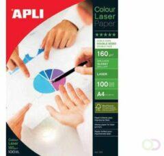 Apli fotopapier Colour Laser ft A4, 160 g, pak van 100 vel