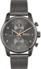 Hugo Boss BOSS HB1513837 SKYMASTER - Horloge - Staal - Grijs - Ø 44 mm