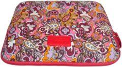 Rode Kinmac – Laptop Sleeve met Paisley print tot 15.4 inch – 39,5 x 27 x 1,5 cm - Rood/Roze