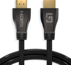 LifeGoods HDMI Kabel 2.1 - 4K Ultra High Speed (120hz) - Ethernet - HDMI naar HDMI - 1.5 Meter - Zwart