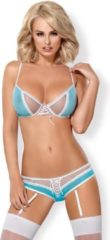 Turquoise Obsessive Sexy Zuster Lingerie Kostuum - L/XL