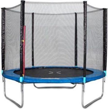 Afbeelding van Blauwe Lizzely Garden & Living Trampoline 244cm met veiligheidsnet