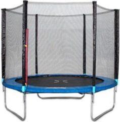 Blauwe Lizzely Garden & Living Trampoline 244cm met veiligheidsnet