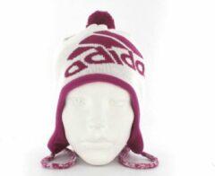 Adidas Peruvian Earbeanie - Muts - Algemeen - Maat Youth - Wit;Sterk Roze
