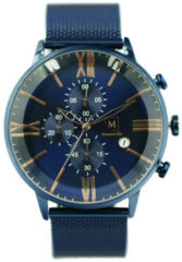 Montreville MON-5 Horloge Jodhpur staal blauw 45 mm