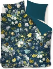 Blauwe Kardol & Verstraten Kardol Eta Doro Dekbedovertrek - Lits-jumeaux (240x200/220 Cm + 2 Slopen) - Katoen Satijn - Petrol