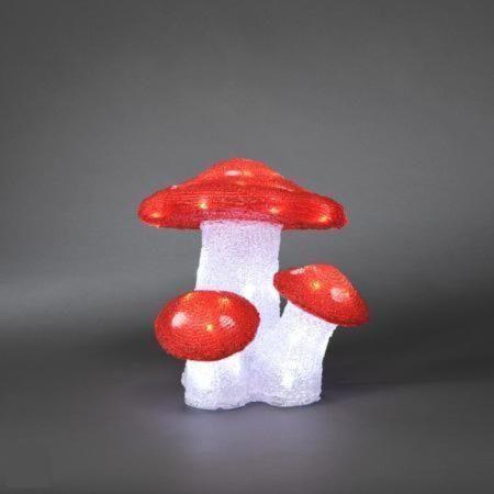 Afbeelding van Rode Konstsmide Konst Smide Acryl LED figuur - Paddestoelen